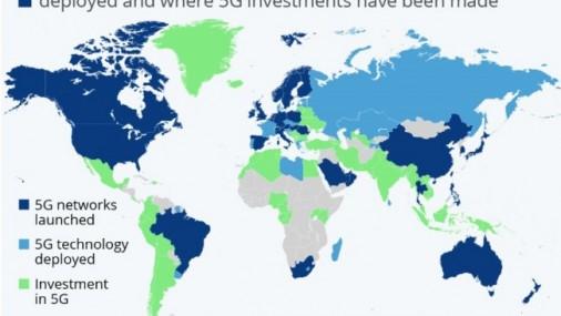 Кои държави вече внедриха 5G